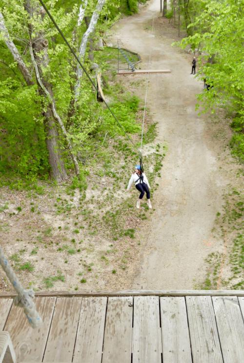 Rebekah Baughman Tower Jump Zip KC