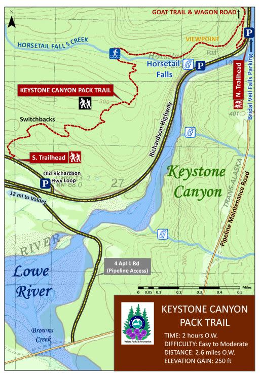 a hiking trail map