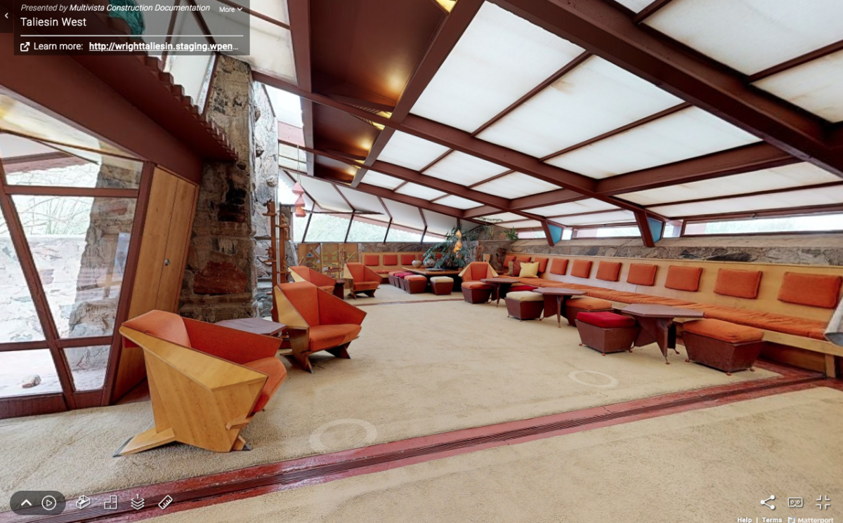 Interior of Taliesin West Virtual Tour