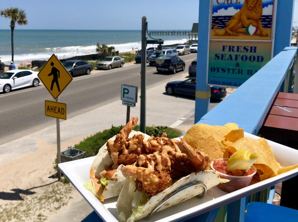 Fish and chips at Tacos Golden Lion in Flagler Beach