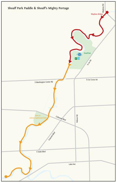 Shoaff Park Paddle and Portage Water Trail Itinerary