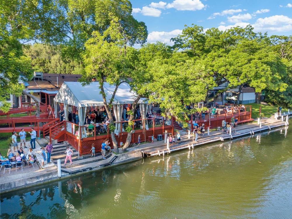 The County Line on the Lake patio in austin texas