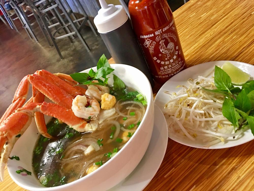 Seafood Pho with Crab Leg