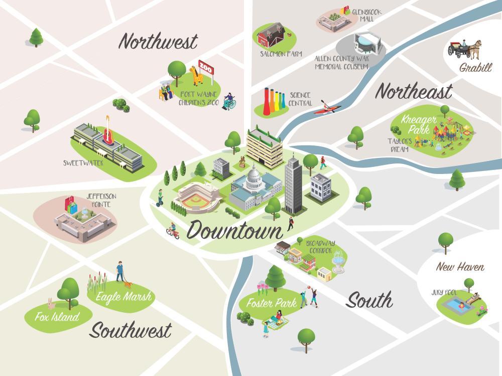 Fort Wayne Area Map - Fort Wayne, Indiana
