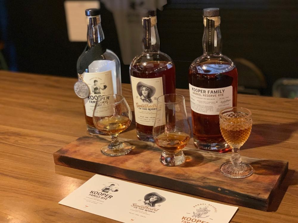 Whiskey Flight from Kooper Family Rye