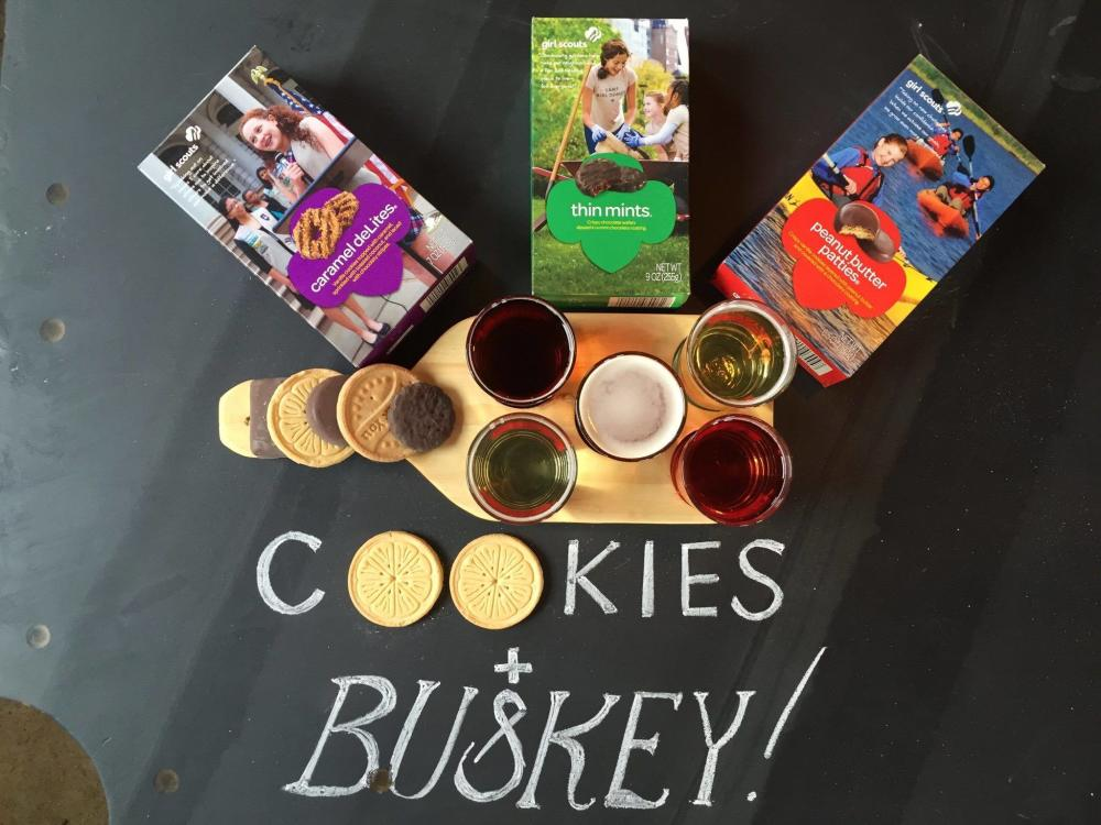 Girl Scout Cookies & Buskey Cider
