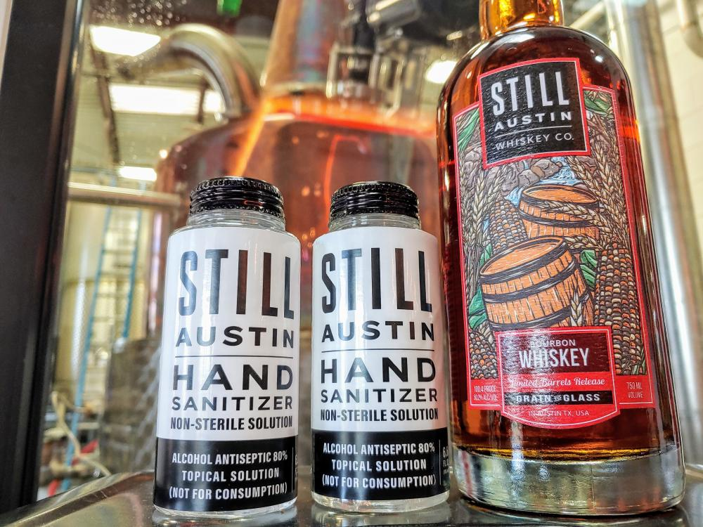 Hand Sanitizer from Still Austin Whiskey in Austin Texas