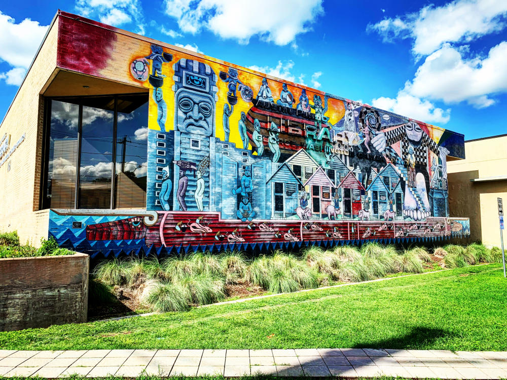 Soulsville Mural at the Carver Museum and Library in Austin Texas