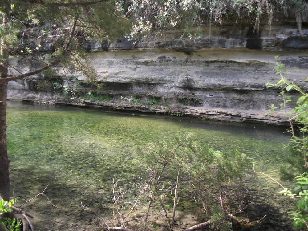St Edwards Park and Bull Creek in Austin Texas