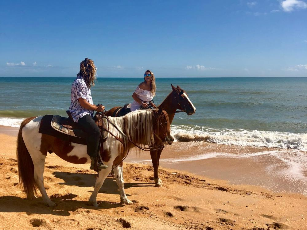 Horseback Riding on the beach in Flagler Beach