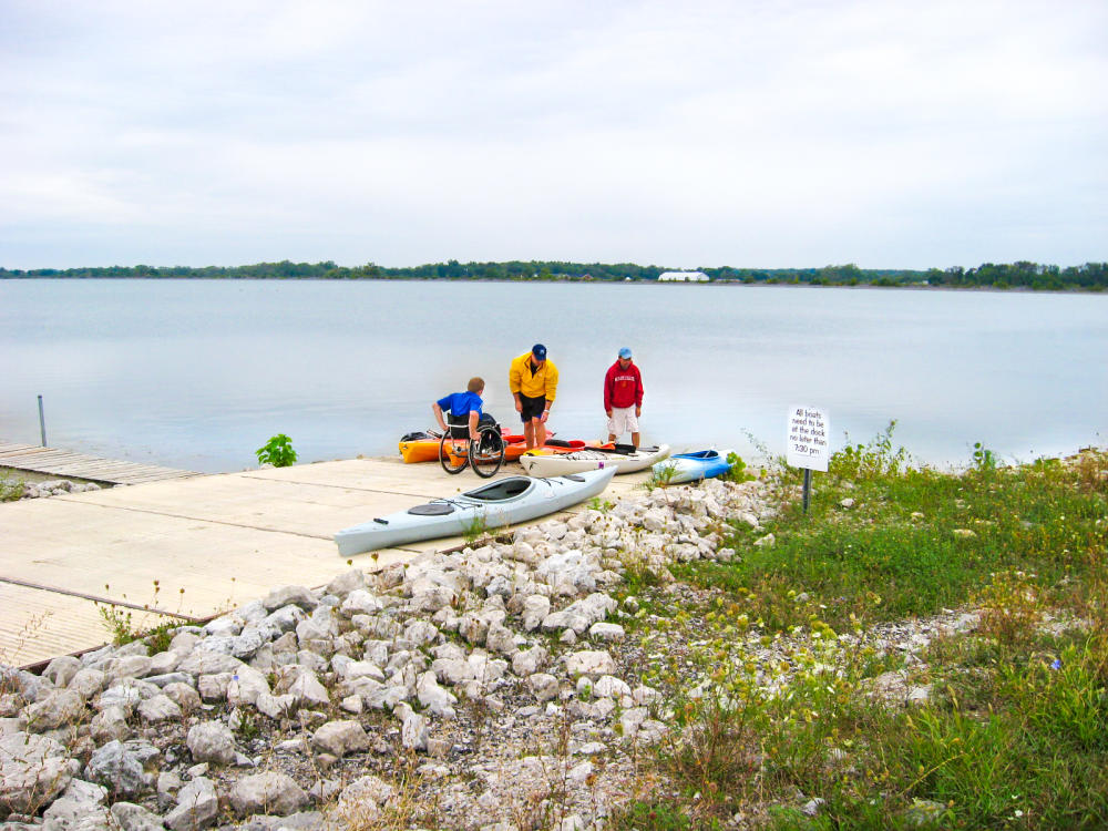 Kayakers at the Hurshtown Reservoir