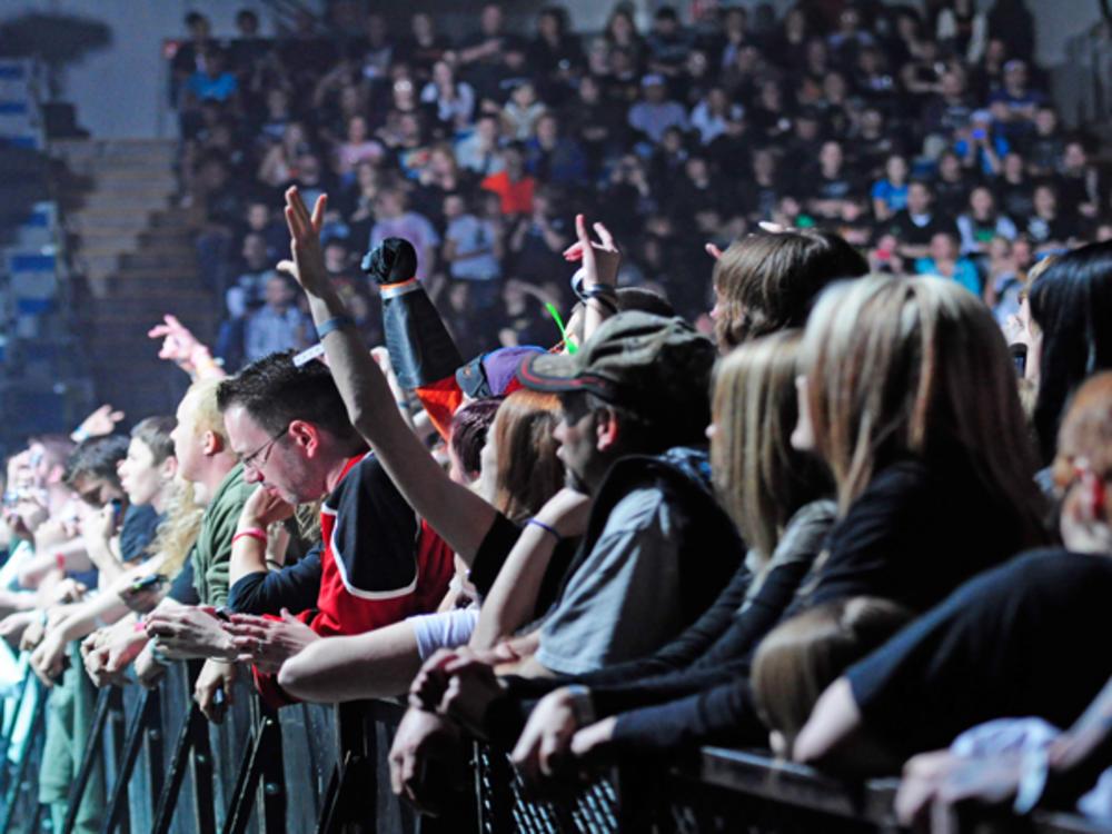 Crowd at a Concert at the Allen County War Memorial Coliseum