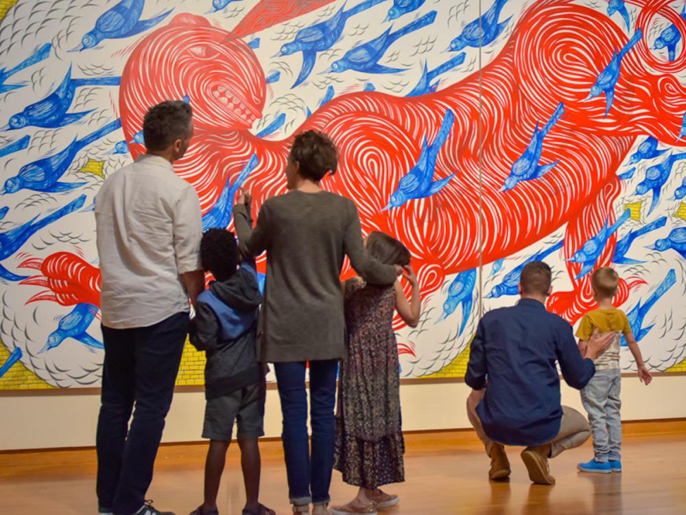 Families at the Fort Wayne Museum of Art
