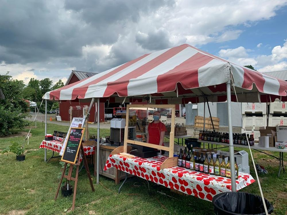 a farm stand from terhune orchards