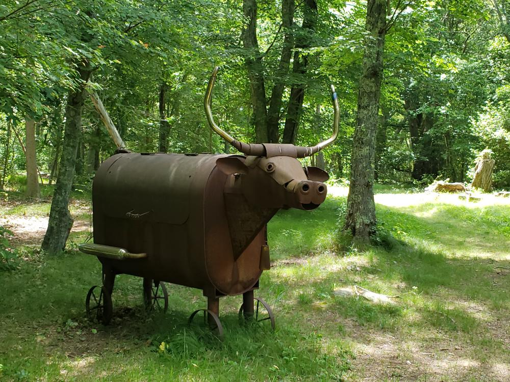 South Kingstown Sculpture Trail Cow