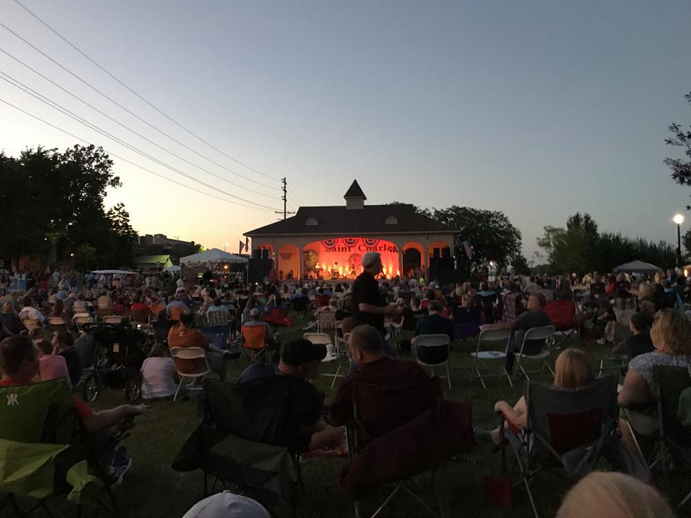 Riverfest Jaycee Stage and Crowd