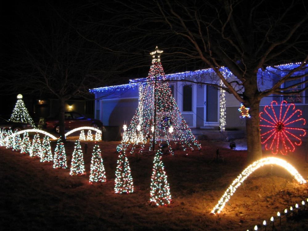 Christmas Lights on Gold