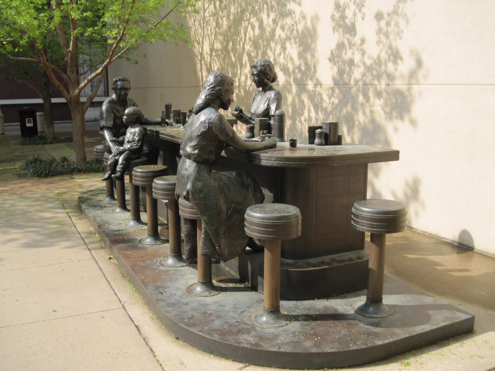 Dockum Sit-in Statue