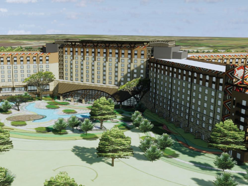Rendering of Kalahari Resort exterior and grounds in Round Rock tx