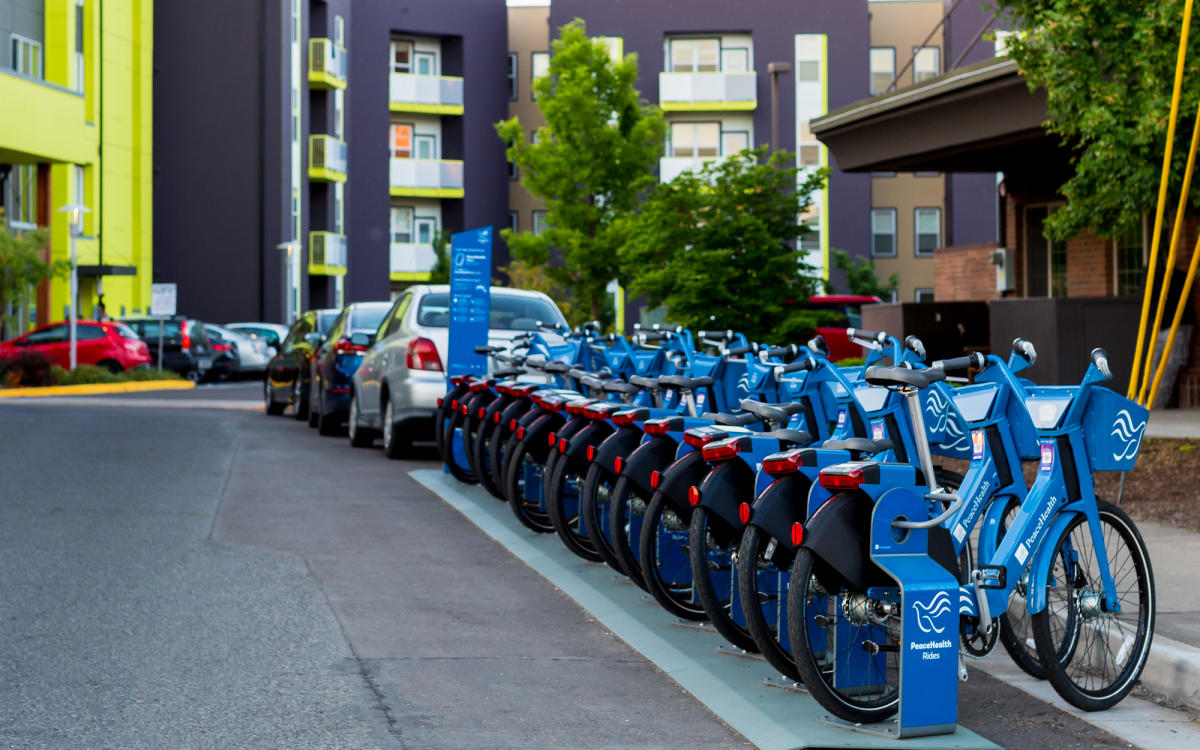 PeaceHealth Rides Bike Rentals Next to Hotel Courtesy of PeaceHealth Bike Rides