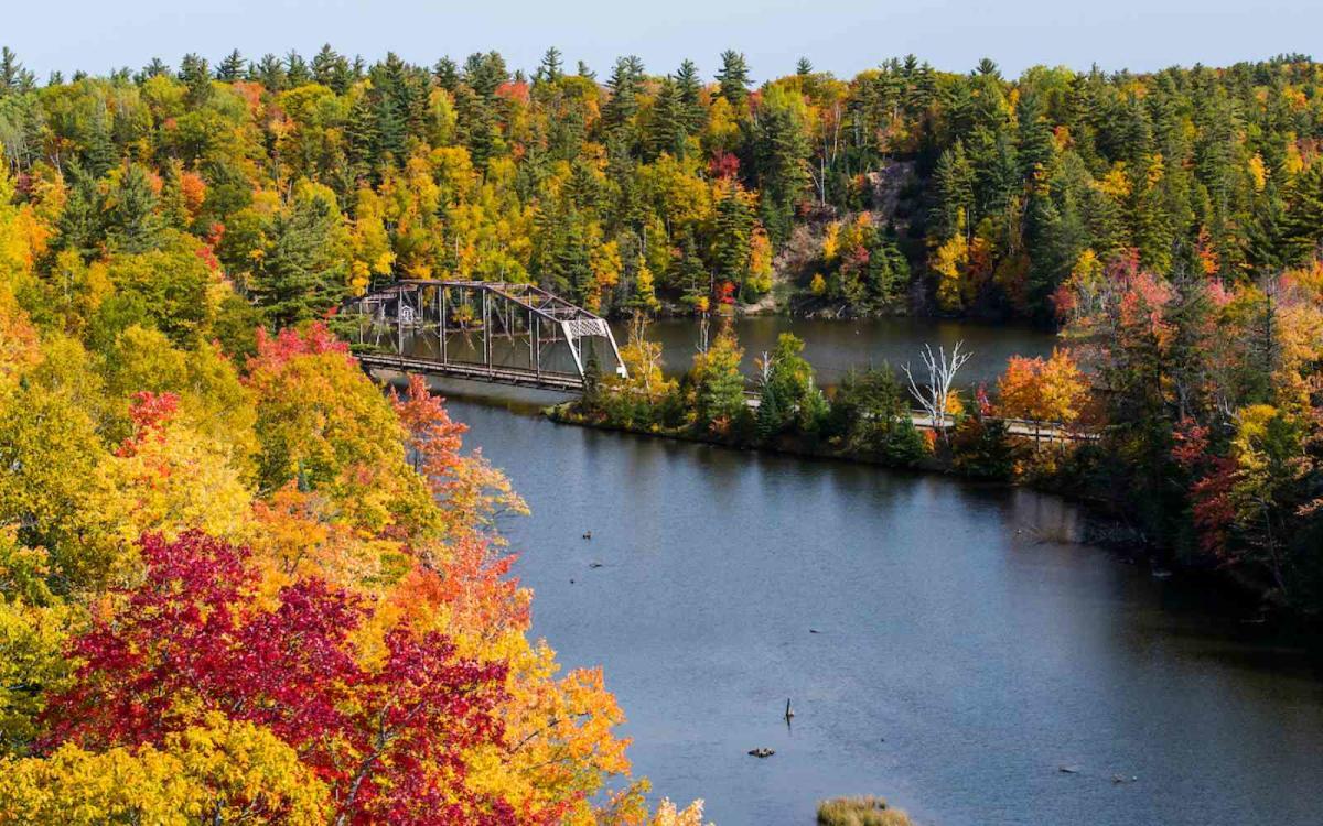A bridge and Fall colors