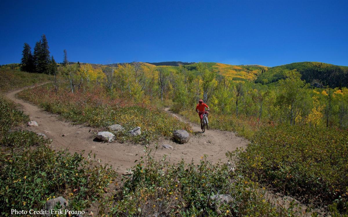 Biking on Panorama Trail