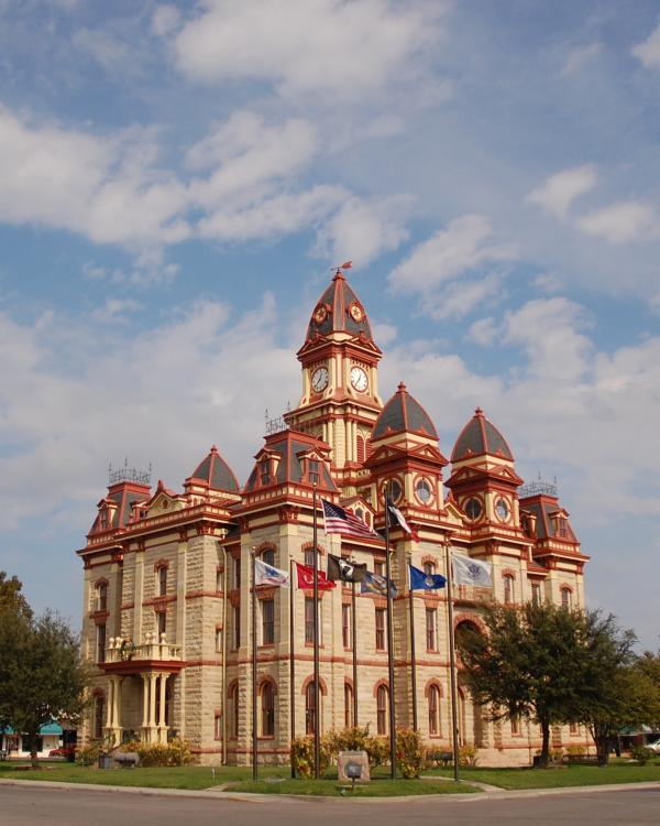 Caldwell County Courthouse exterior in Lockhart Texas
