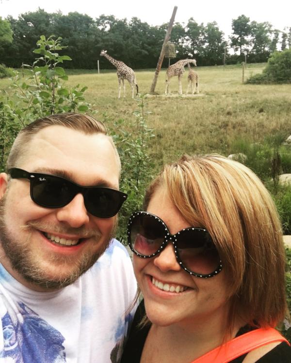 Never miss the chance to take a selfie with some giraffes!