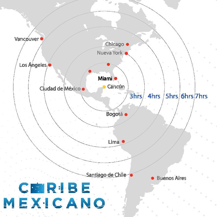Caribe Mexicano - Mapa Internacional 2