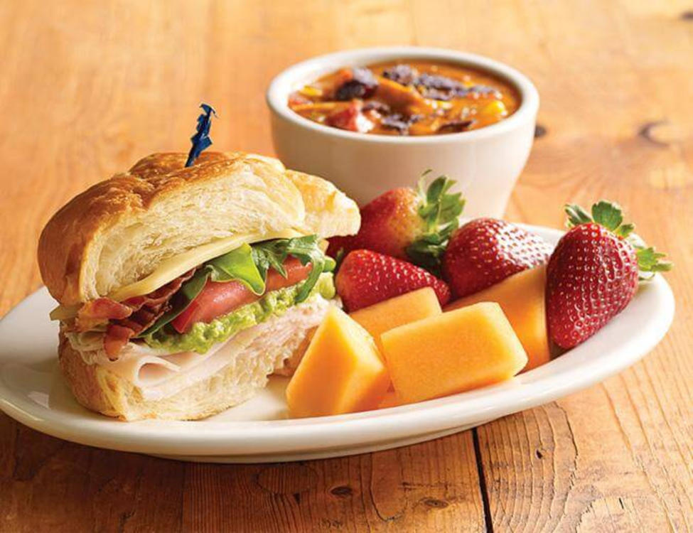Jason's Deli Sandwich, Fruit, and Soup