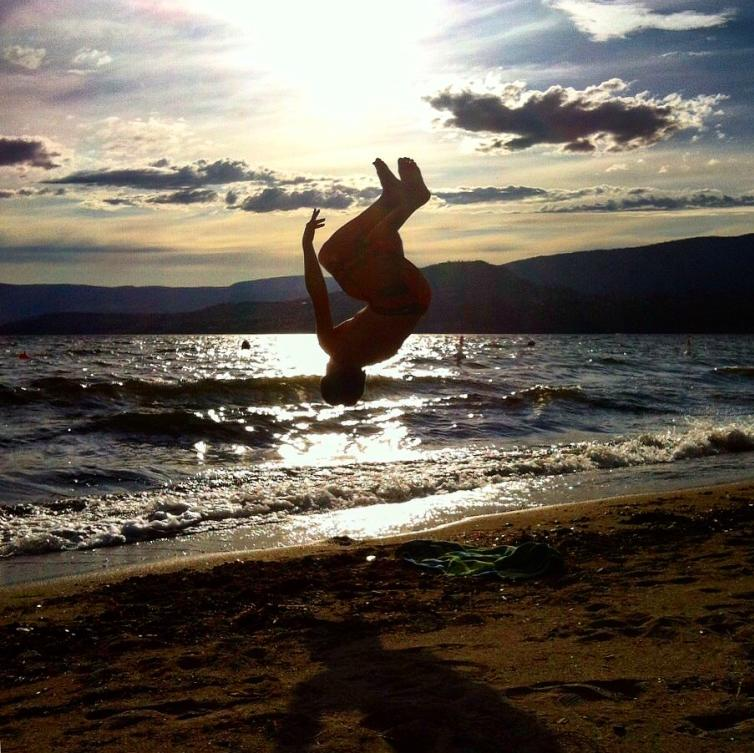 Okanagan Lake Backflip