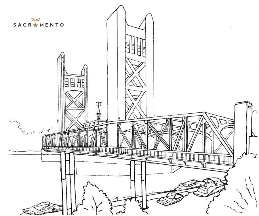 Tower Bridge Coloring Page