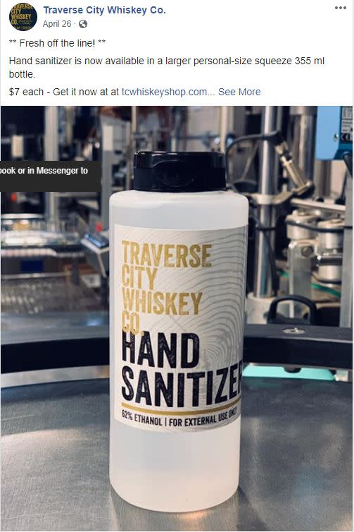 TC Whiskey Co Hand Sanitizer