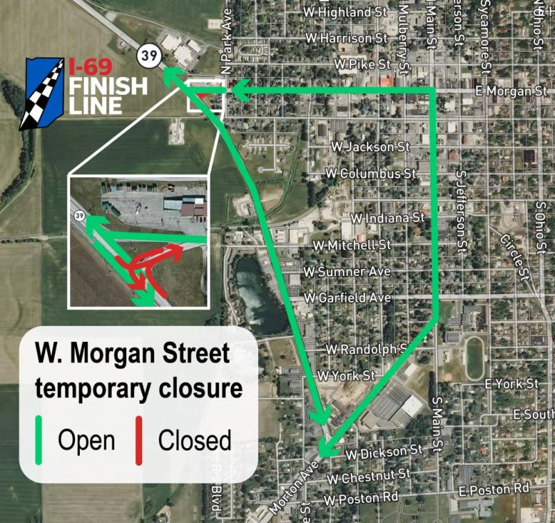 West Morgan Street closure, August 2020.