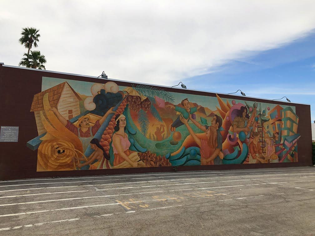 Mural depicting different scenarios