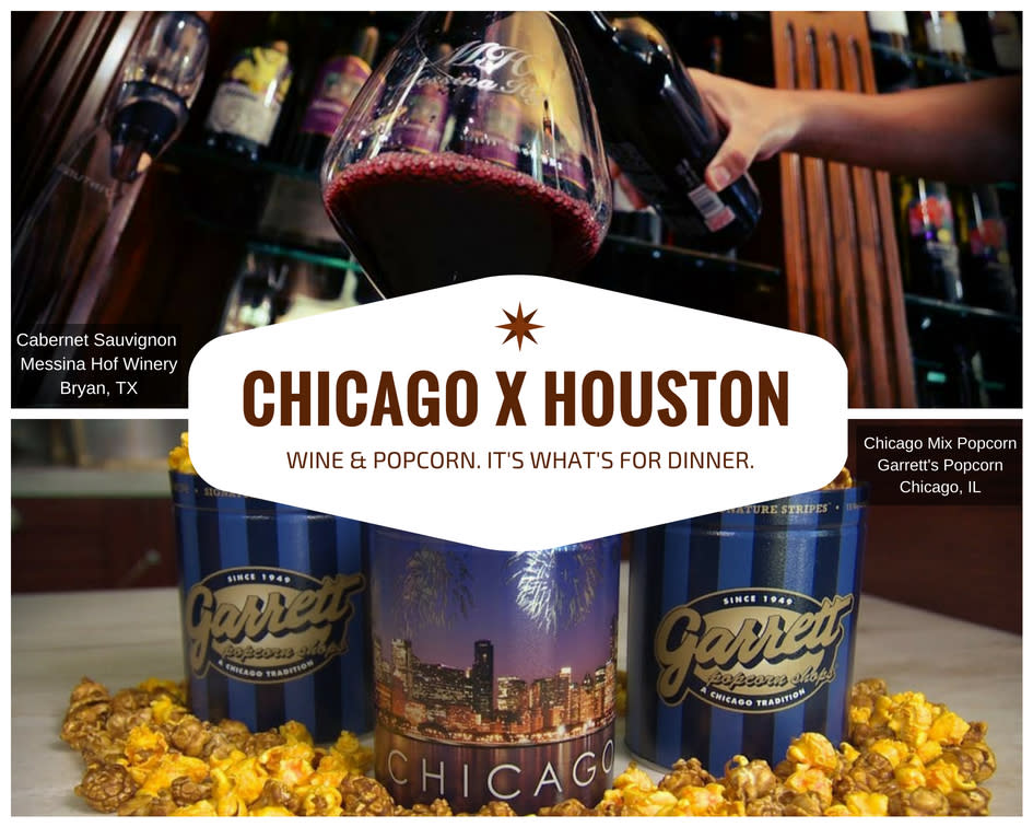 Chicago x Houston - Popcorn and Wine