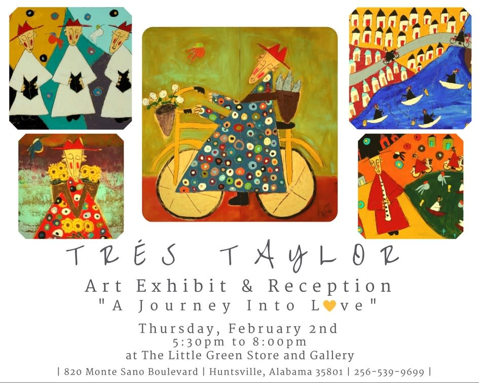 Tres Taylor Art Exhibit Flyer
