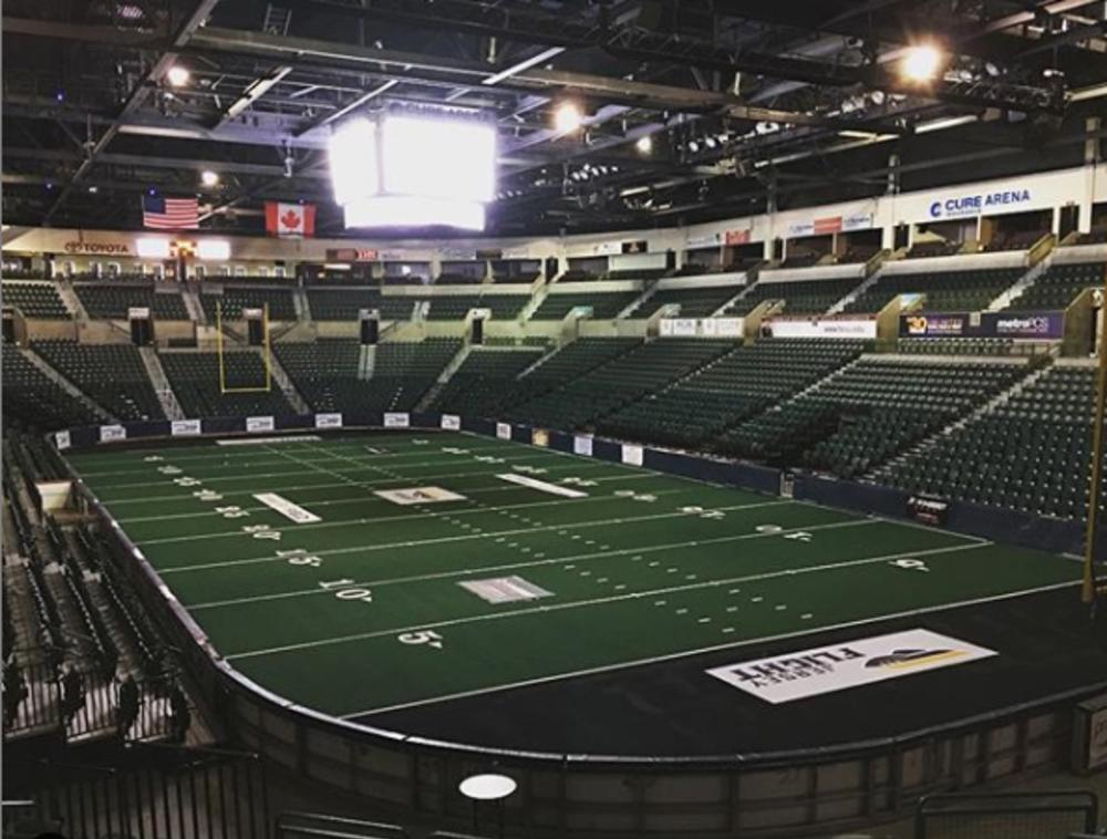 CURE Arena Shortened Football field