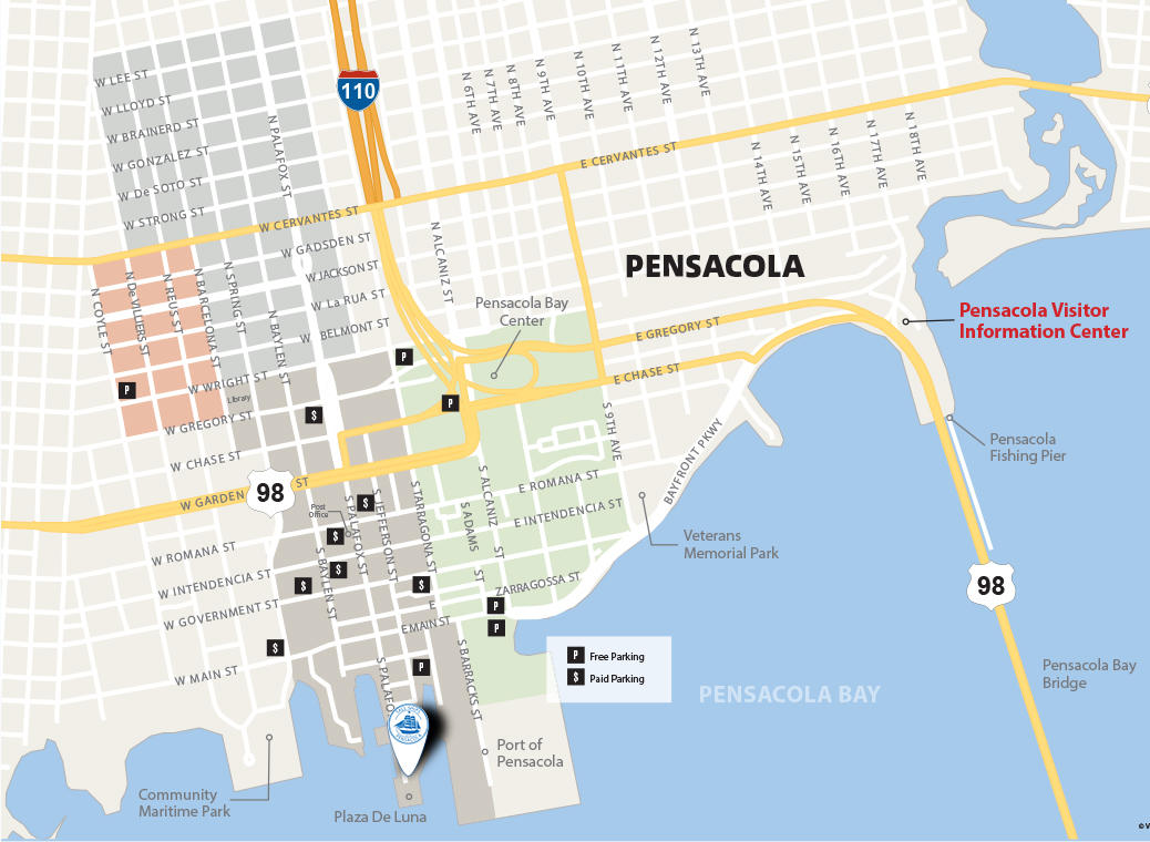 Tall Ships Pensacola® Festival Parking & Traffic Maps on freeport map, downtown pensacola florida, north hill pensacola map, brownsville map, osceola map, pensacola beach map, pensacola bay map, milton map, university of west florida map, downtown pensacola shopping, pensacola florida map, holley by the sea map, east hill pensacola map, old florida village map, i-10 map, escambia county map, navarre map, beaches map, pensacola street map, santa rosa county map,