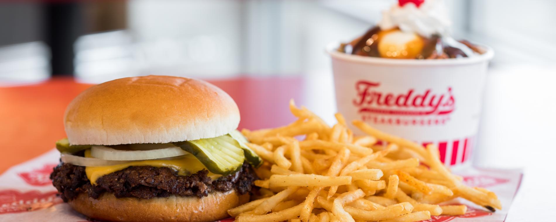 Freddy's Burger Fries Visit Wichita