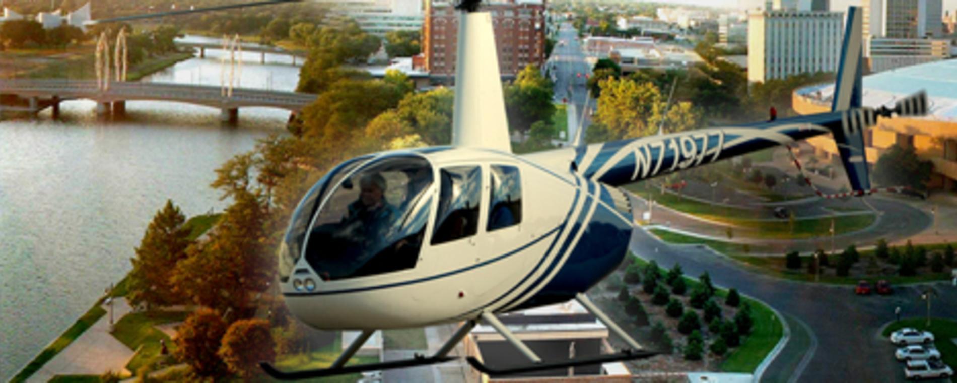 DWTA Helicoptor Over Wichita Visit Wichita