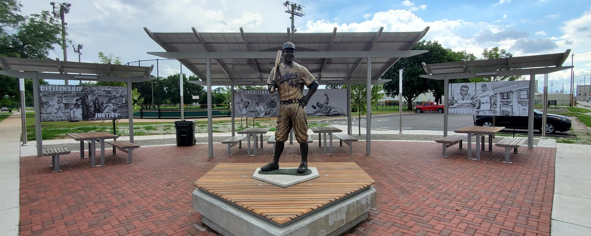 McAdams Park Robinson Statue
