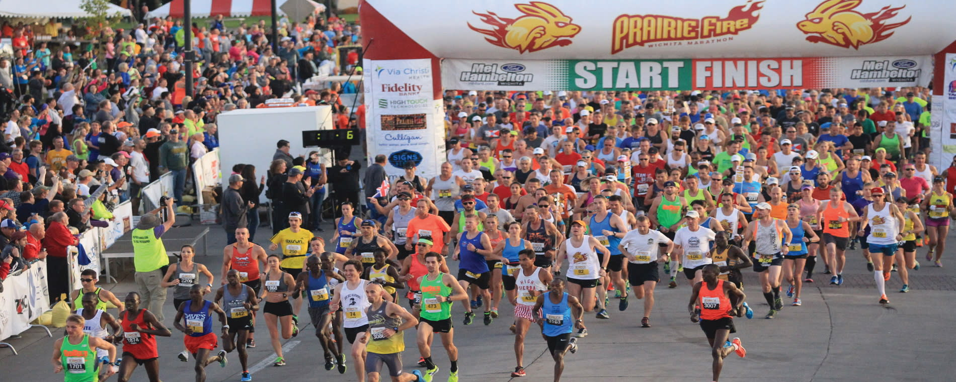 Prairie Fire Marathon 2015_Starting Line_Greater Wichita Sports Commission