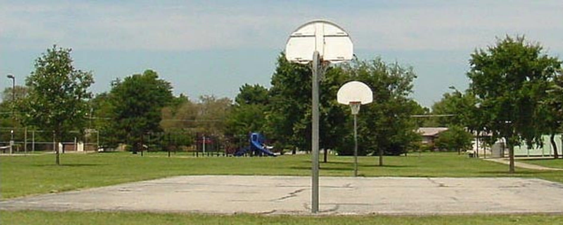 Basketball Courts at Osage Park Wichita