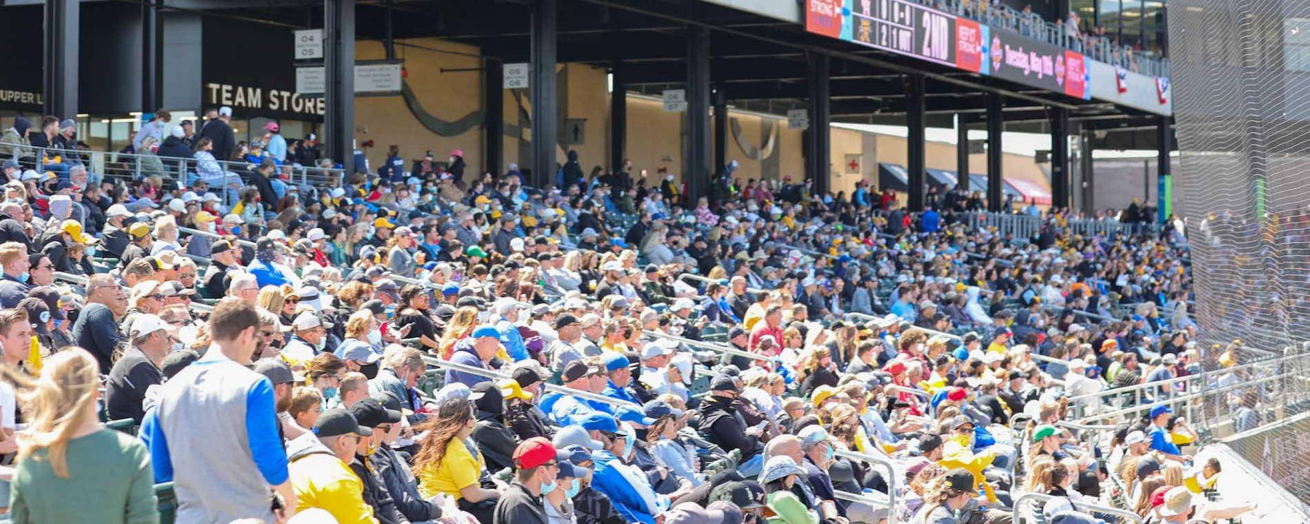 Fans at Riverfront Stadium
