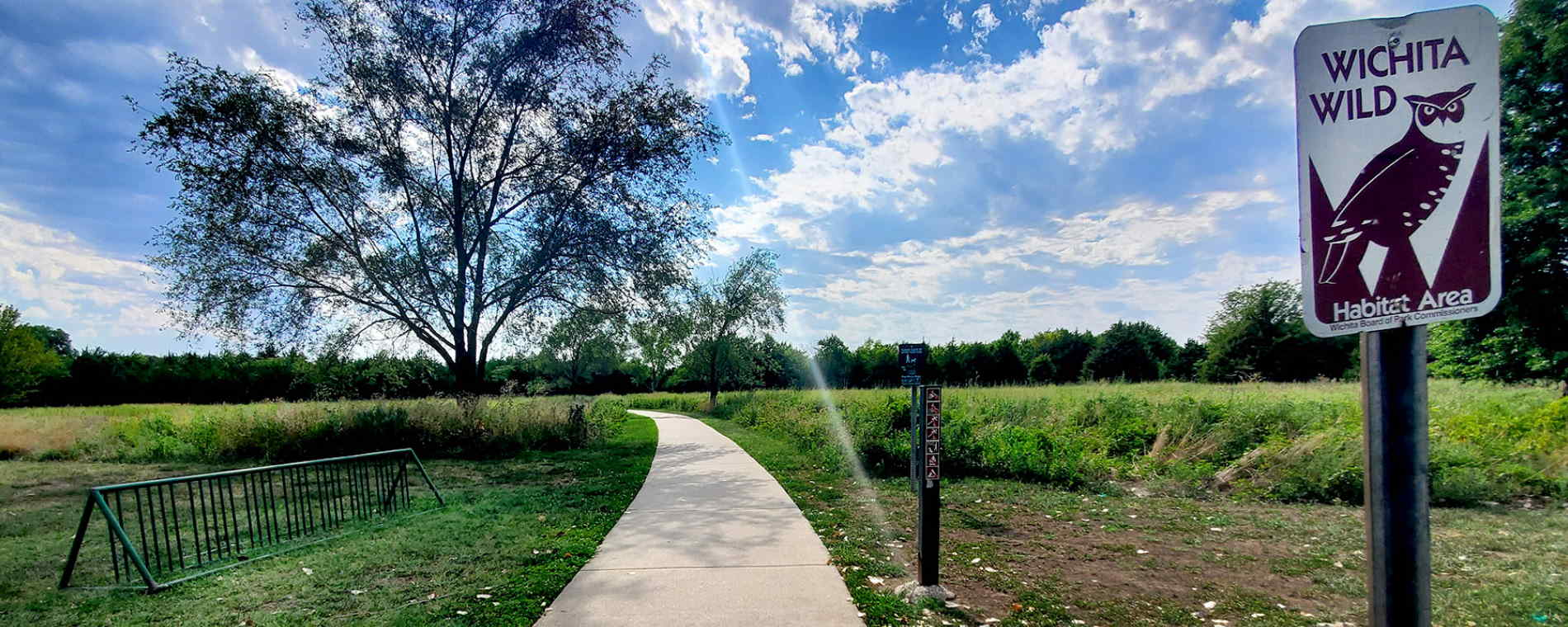 Walking Path at Swanson Park Wichita