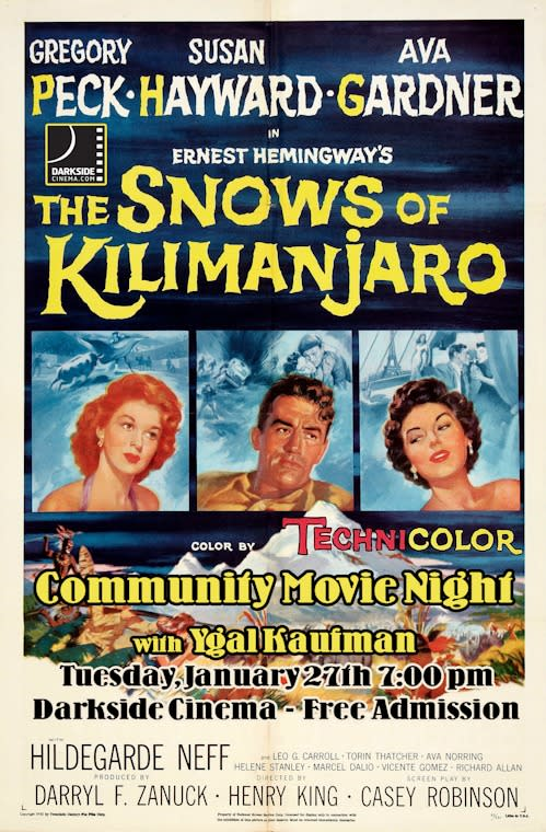 Snows of Kilimanjaro Movie poster