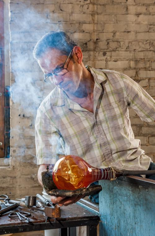 River Arts District Glass Blower