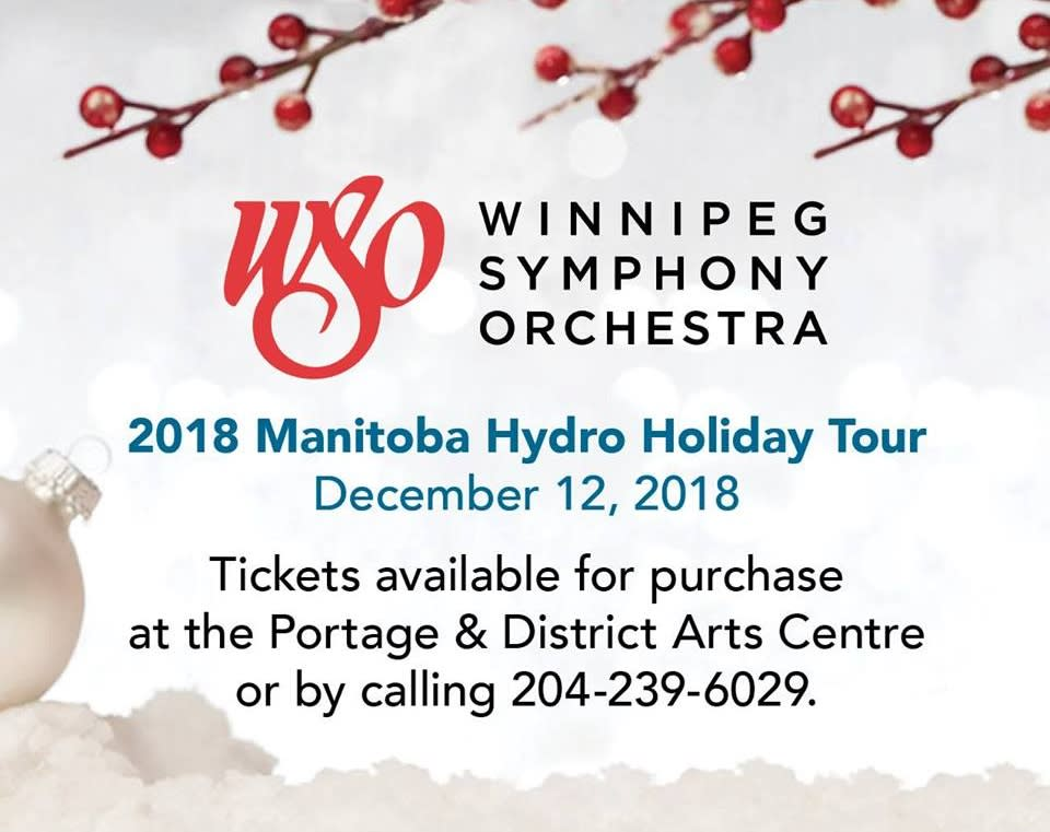 Winnipeg Symphony Orchestra at William Glesby Centre Theatre ad