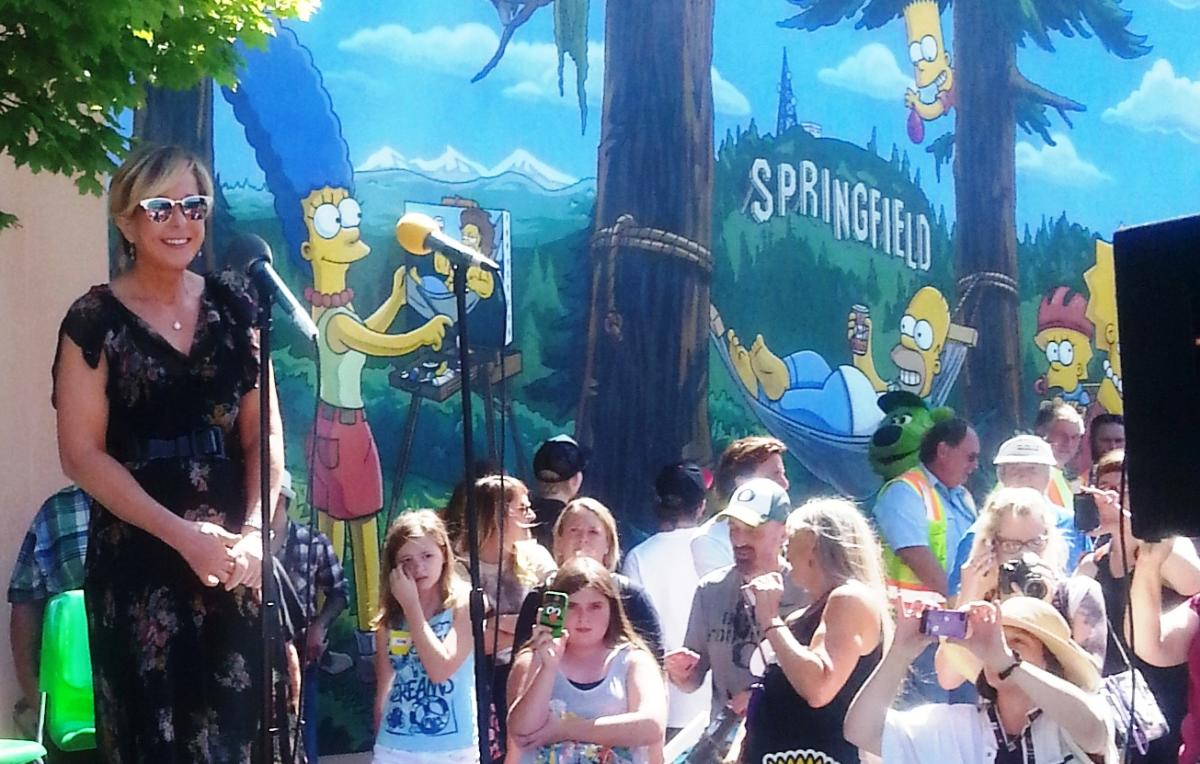 The Simpsons' Mural Unveil with Yeardley Smith, the voice of Lisa Simpson by Lisa Lawton
